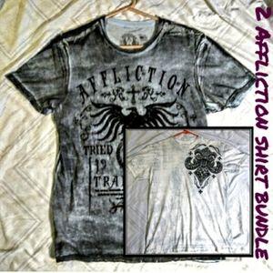 2 Affliction shirt bundle deal. (Hold)